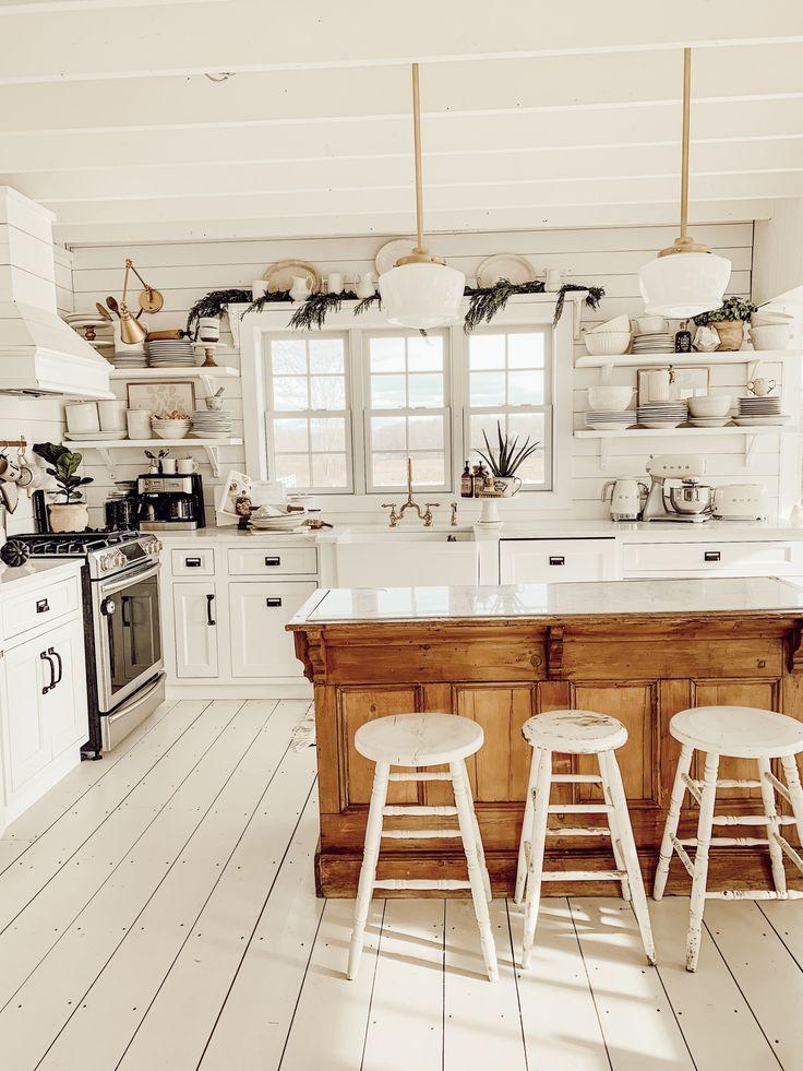 Photo of Winter Farmhouse Kitchen – Liz Marie Blog