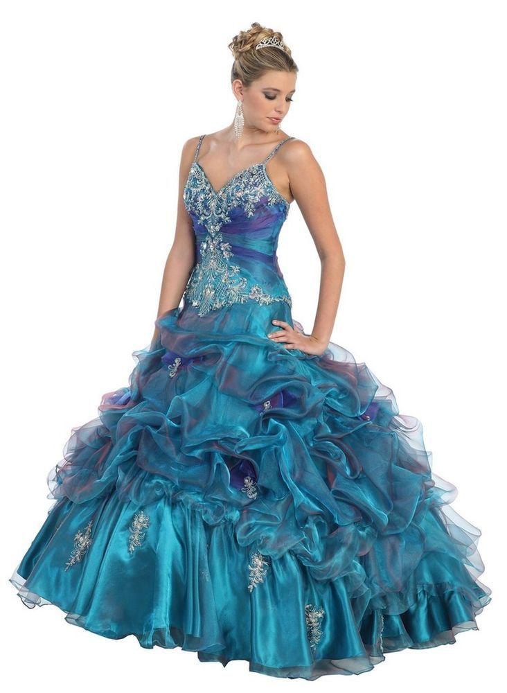New Princess Masquerade Ball Gown Marine Sweet 16 Quinceneara ...