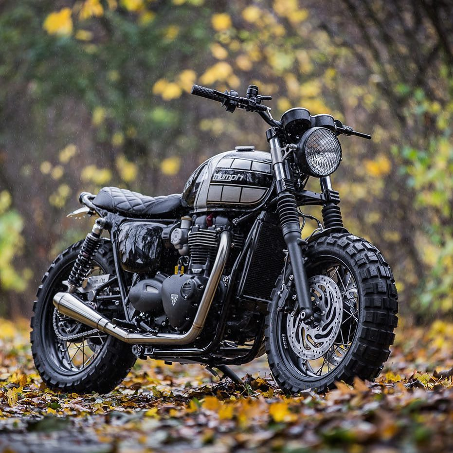 Triumph T120 By At Downandoutcaferacers Featured On At Bikeshedmc With