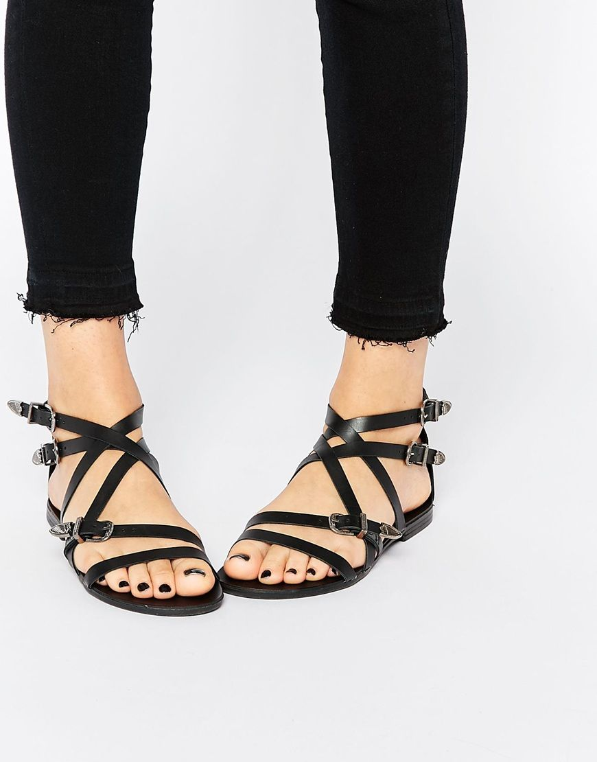 Buy Women Shoes / Asos Finsbury Leather Western Sandals