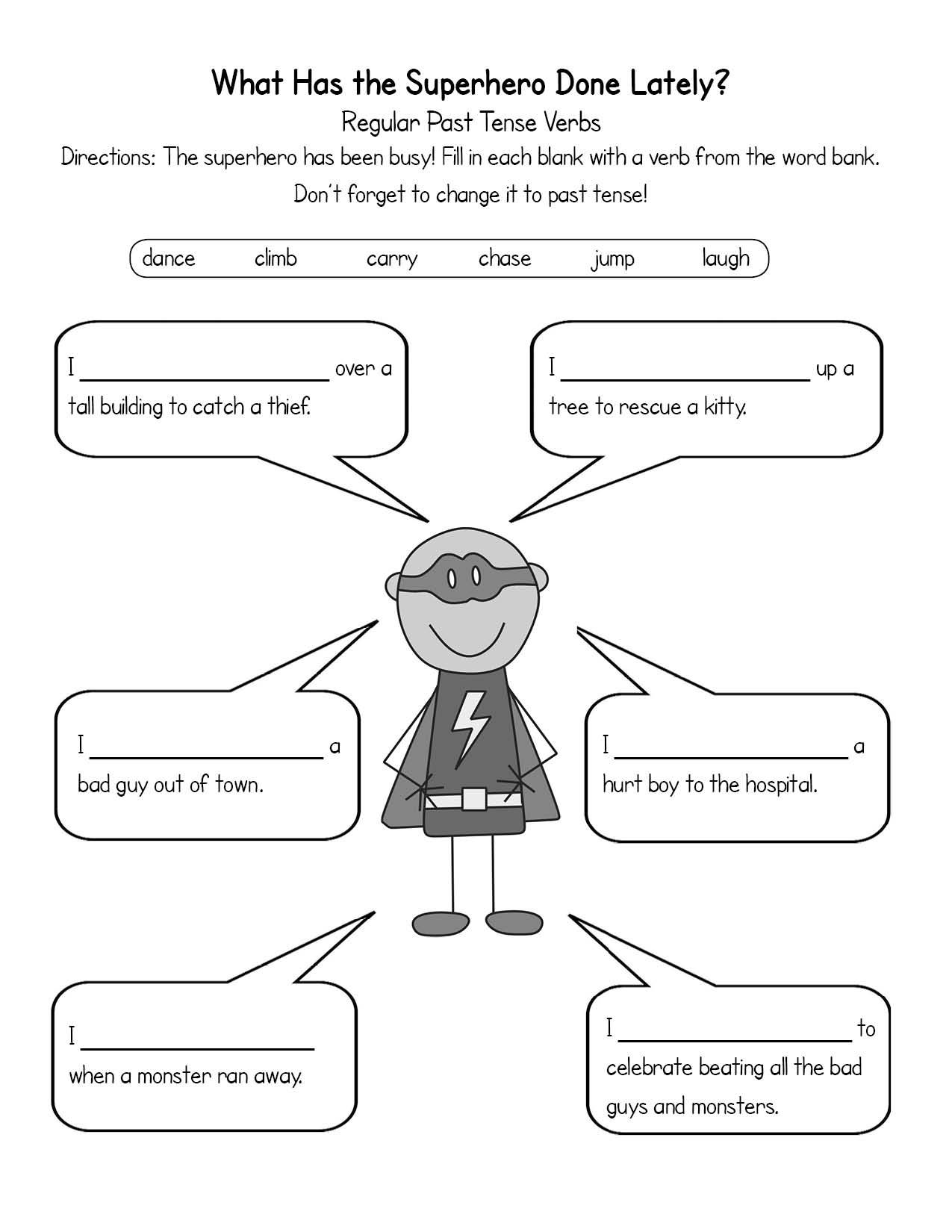 Uncategorized Solution Focused Therapy Worksheets superhero worksheets joey super heros pinterest exercises for kids both regular and irregular past tense verbs there are pre