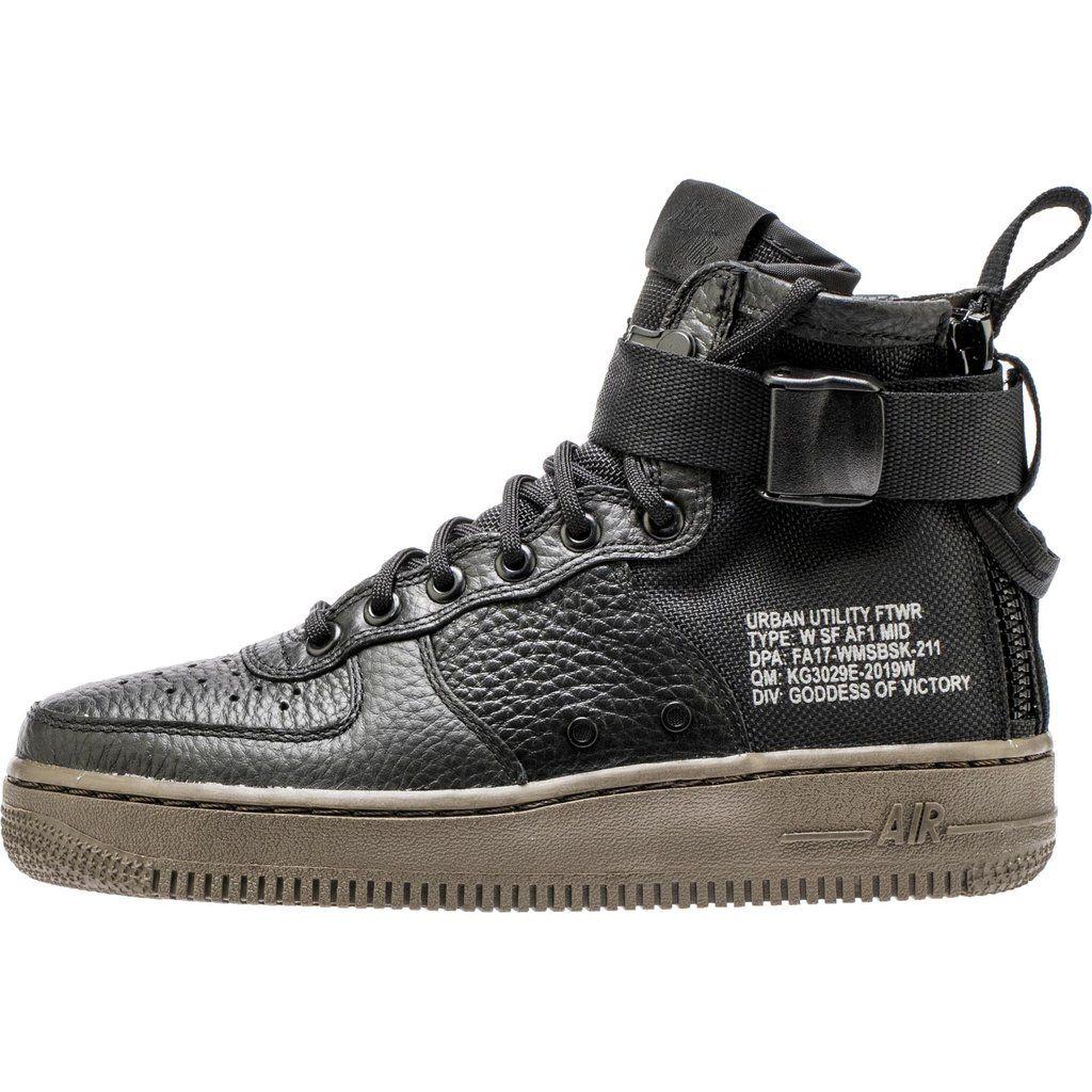 Nike Sf Air Force 1 Women S Shoe Black Gum Black Gums Shoes