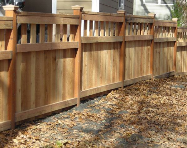 Residential Fencing Wood Outdoor Fence With Images Wood Fence Residential Fence
