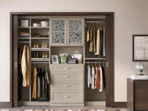 California Closets Modern Reach In Custom Closet