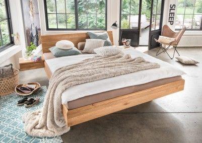 Bett Massivholz Schlafzimmer Schwebebett Schwebend