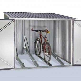 fahrradgarage aus metall 4 fahrr der ebike garage. Black Bedroom Furniture Sets. Home Design Ideas