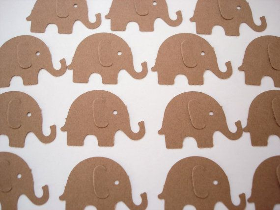 elephant paper punch 41 easy-to-make baby shower centerpieces  craft paper, elephant stencil, ribbon, button and a wooden dowel  all you need is a punch bowl, blue kool aid and.