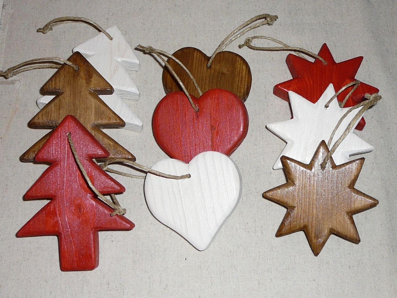 Kit Décoration Noël en Bois Sapin Etoile Coeur Chalet/Montagne ...