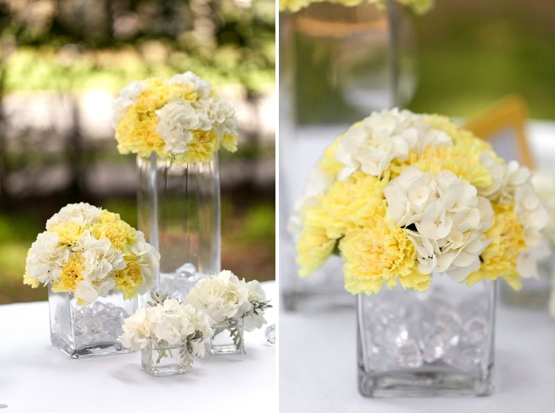 Yellow Wedding Table Decoration Ideas : Yellow wedding ideas modern centerpieces and