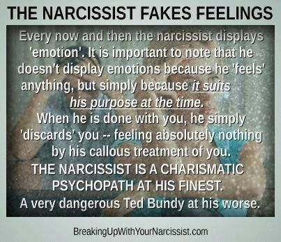 A narcissist is a charismatic psychopath at his finest...