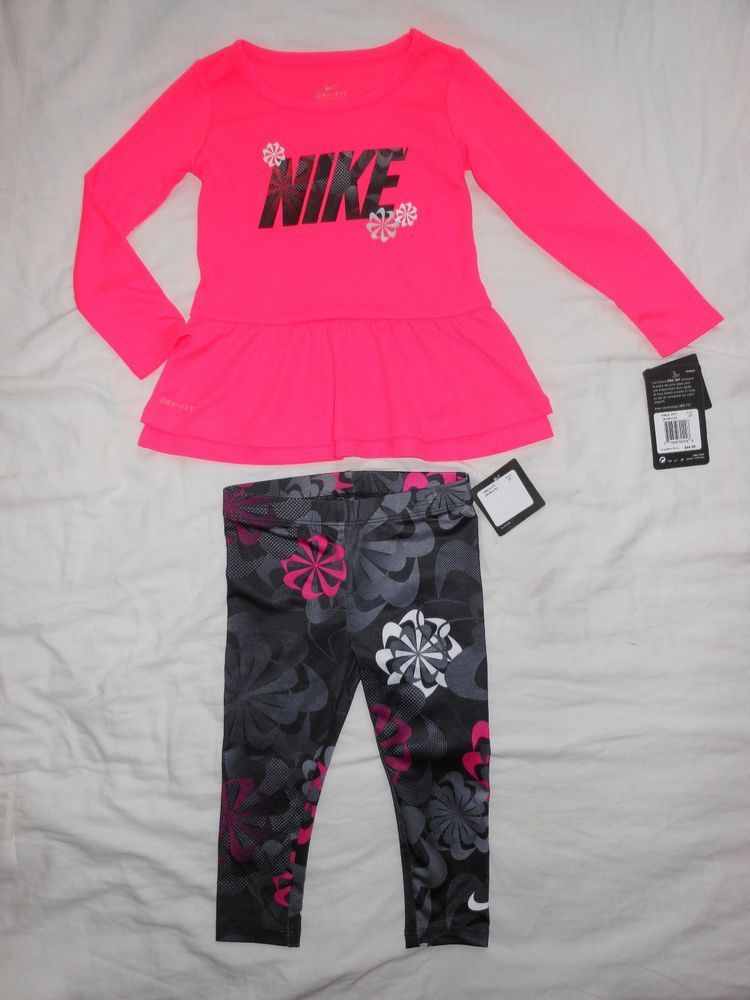 f4ddb29c61 NWT Nike Toddler Girls 2pc shirt and legging outfit set Size 2T #fashion # clothing