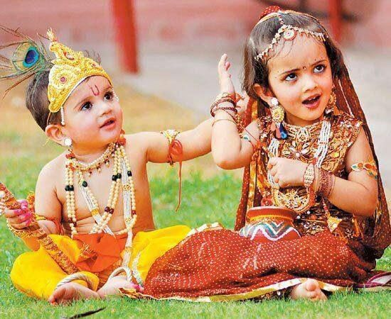 Baby Radha & Krishna   Hindu Gods and Goddesses   Pinterest