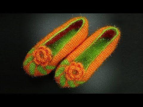 начинаем вязать видео уроки вязания вязаные тапочки крючком
