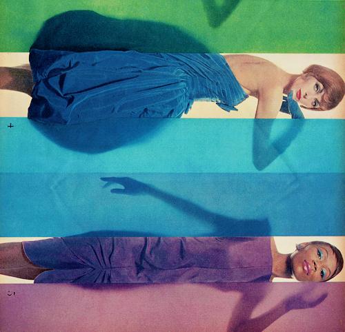 "Erwin Blumenfeld ""Rage for Colors""published in Look, October 15, 1958(via)     (Source: vintagegal)"