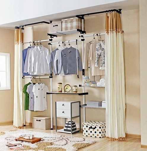 Open Closet Concept Closet Apartment Apartment Closet Organization Apartment Storage Diy