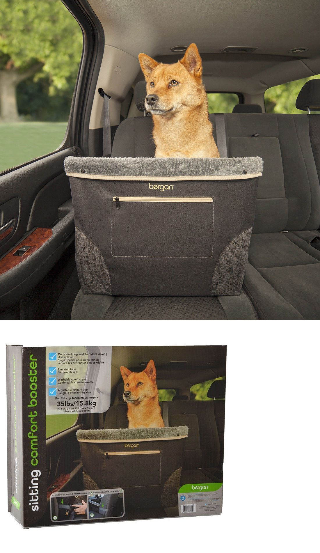 Bergan Black Comfort Sitting Car Booster Dog Seat dogs up to lbs