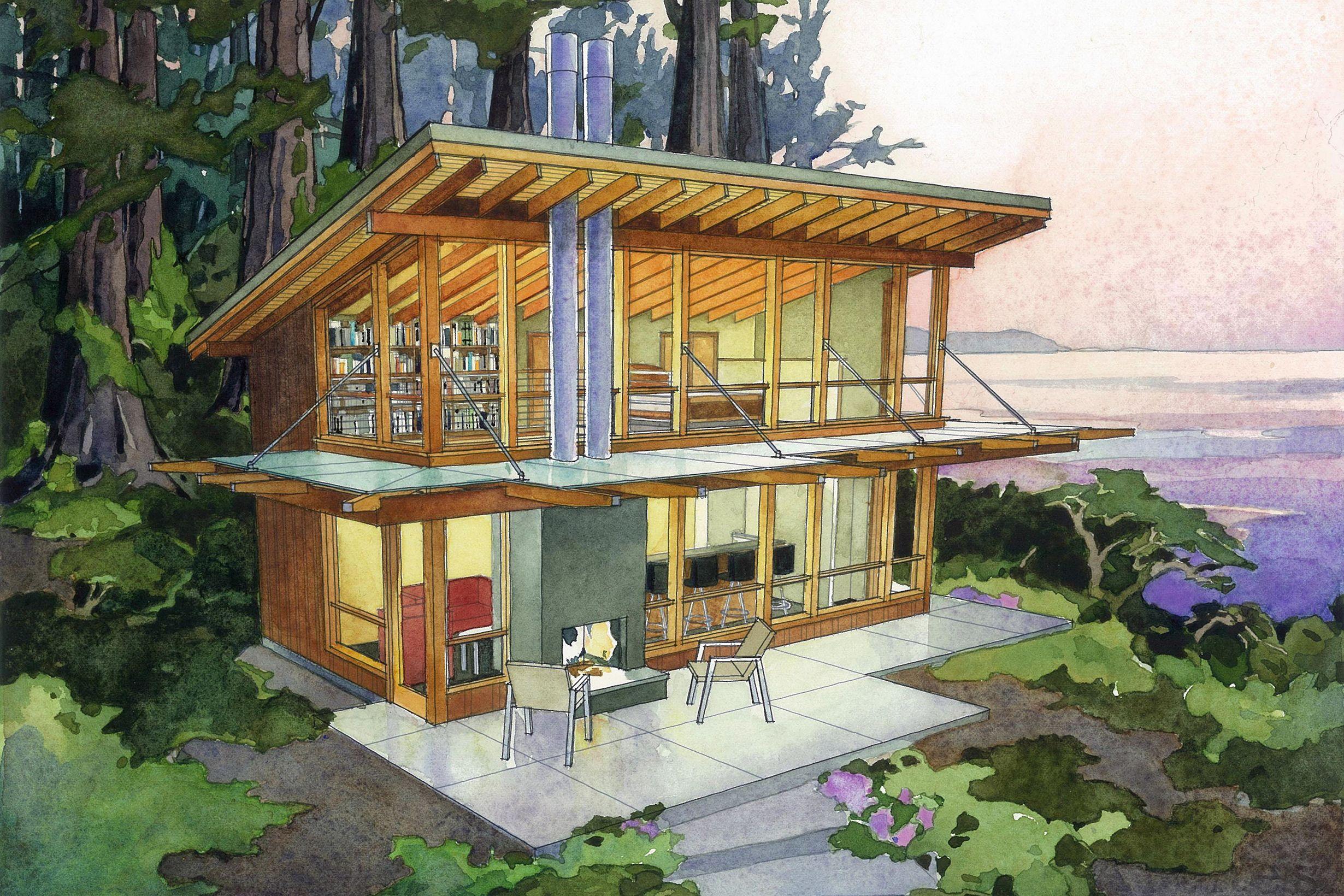 Modern Style House Plan 1 Beds 1 Baths 640 Sq Ft Plan