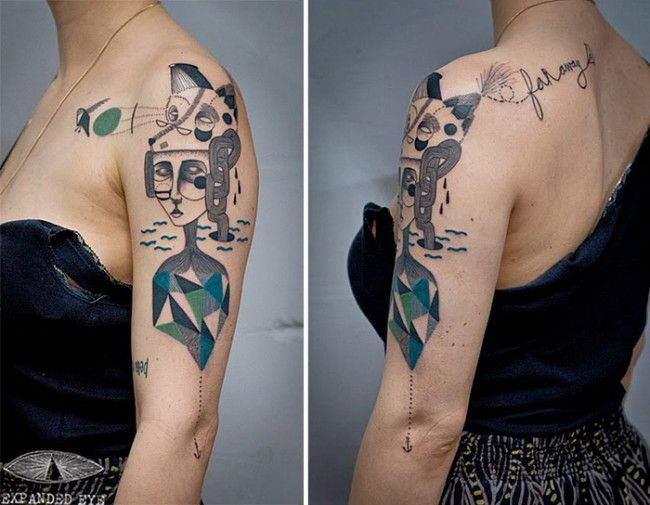 Cubism And Tattoos The Famous Art And Creativity Eye Tattoo