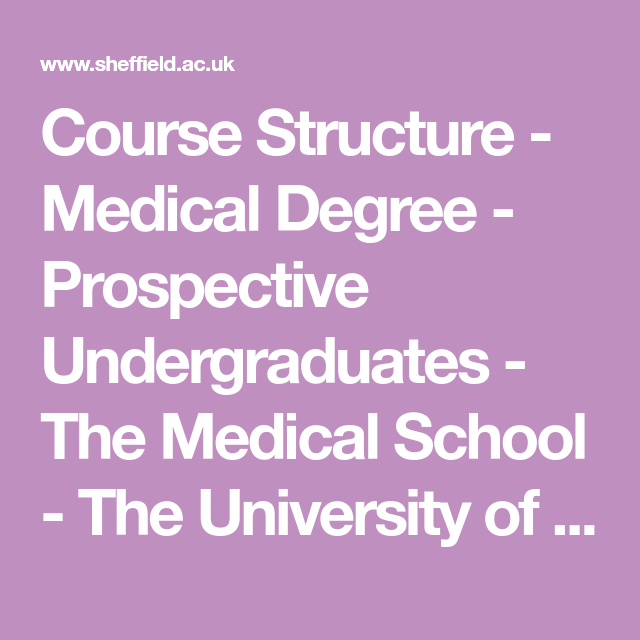 Course Structure - Medical Degree - Prospective