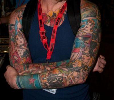 tattoo comic style