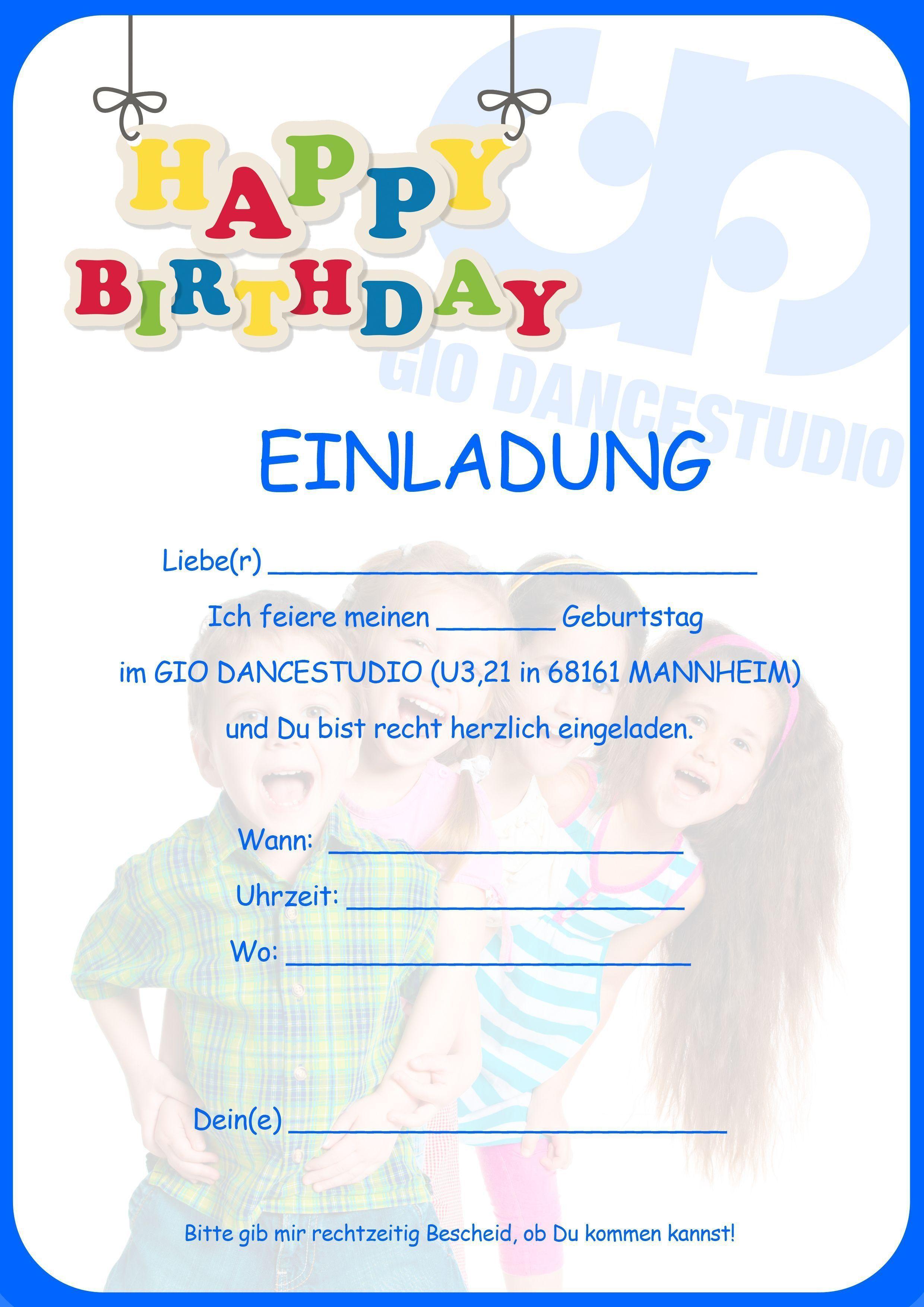 Einladung Kindergeburtstag Vorlagen Ausdrucken Einladung