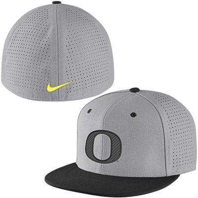 Oregon Ducks Nike Vapor True College Authentic Baseball Fitted Performance  Hat - Gray 2b2b4b4b482