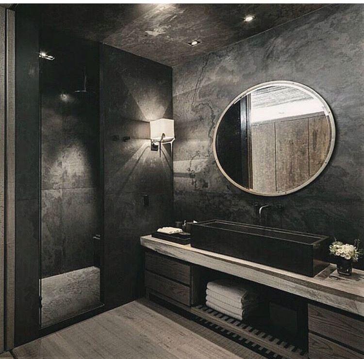 Interior Design Interior Design Ideas Black Interior Bathroom Design Industrial Bathroom Bathroom Design Black Bathroom Design Luxury Bathroom Interior