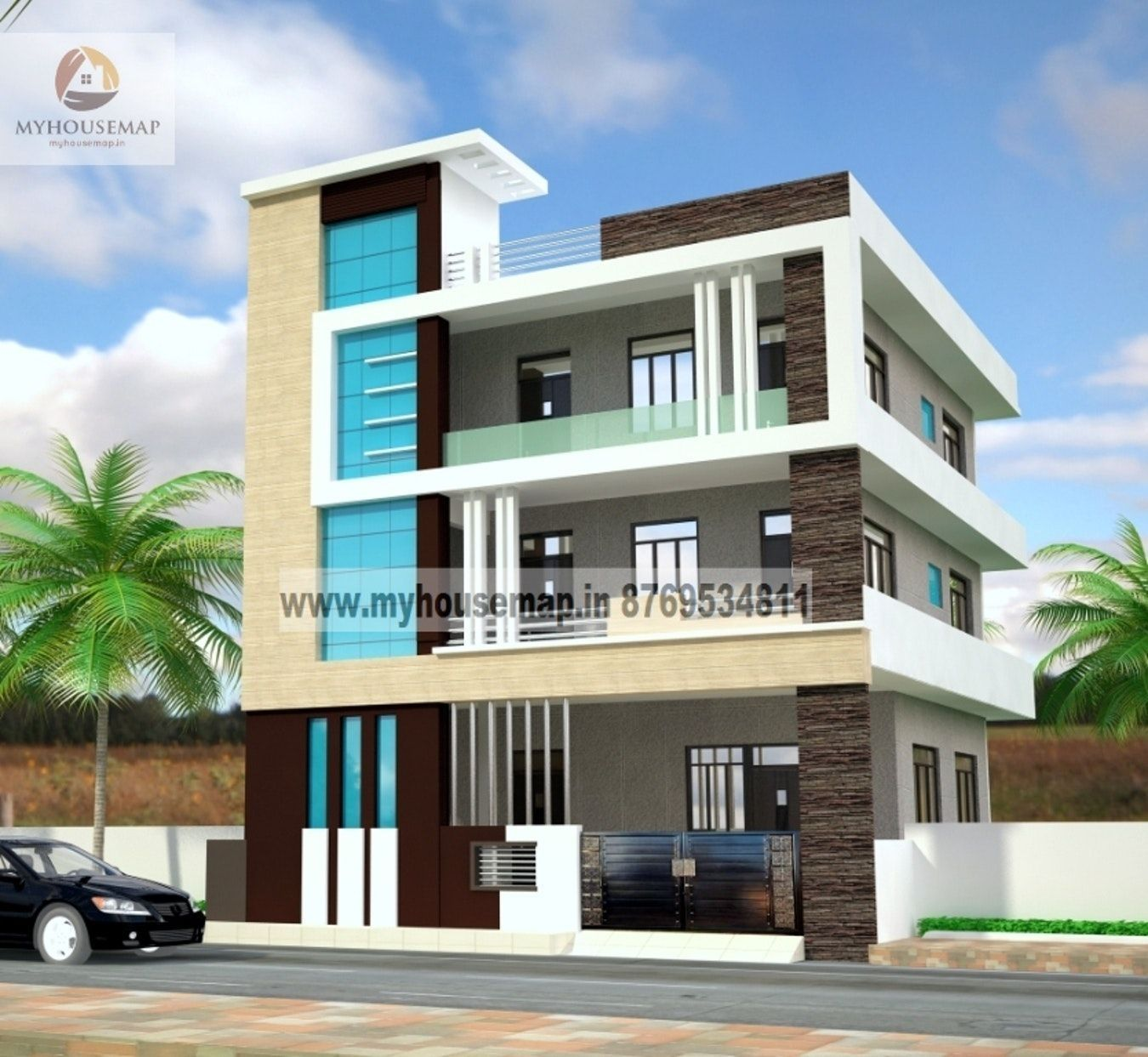 Resultado De Imagen De Elevations Of Residential Buildings In Indian
