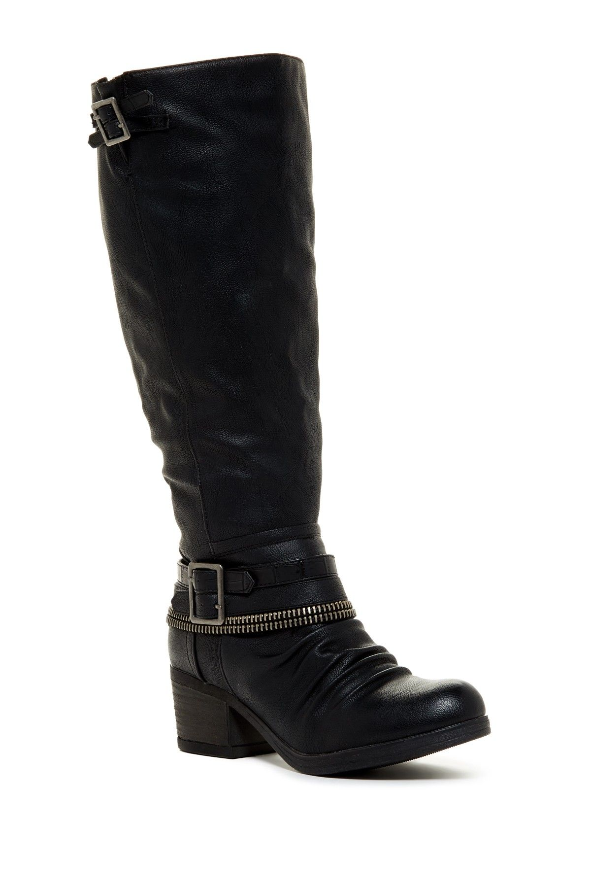 Carlos By Carlos Santana | Candace Moto Boot - Wide Calf | Calves ...