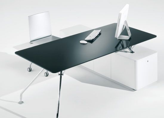 black office table. This Is So Perfect- Would Be The Best Option Across That Back Wall Where You Black Office Table E