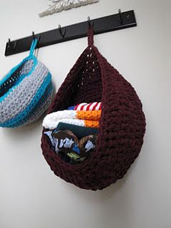 crochet pouches - for gloves, mittens, etc.