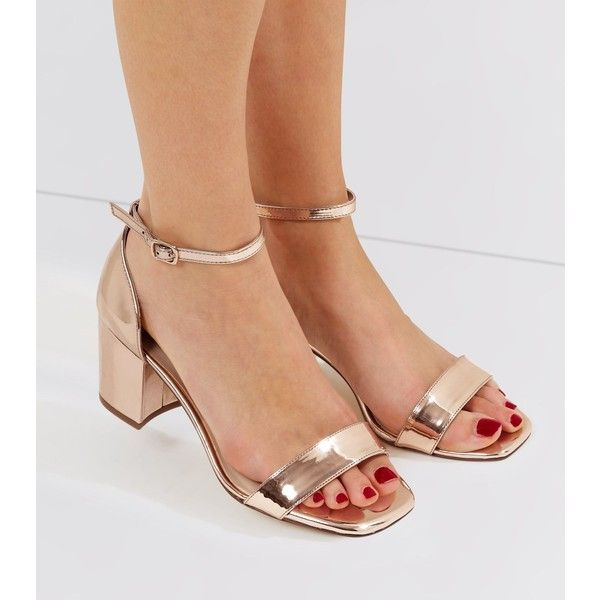 New Look Wide Fit Rose Gold Metallic