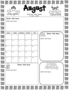 10d4eb5bf7cc5ec9b394879b84911b14 Teacher Monthly Newsletter Templates on real estate, doc office, printables for april, young women, editable blank, pre owl, for company pdf,