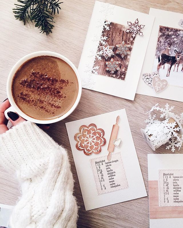 Oh, December ❤ More about making your own christmas cards on the