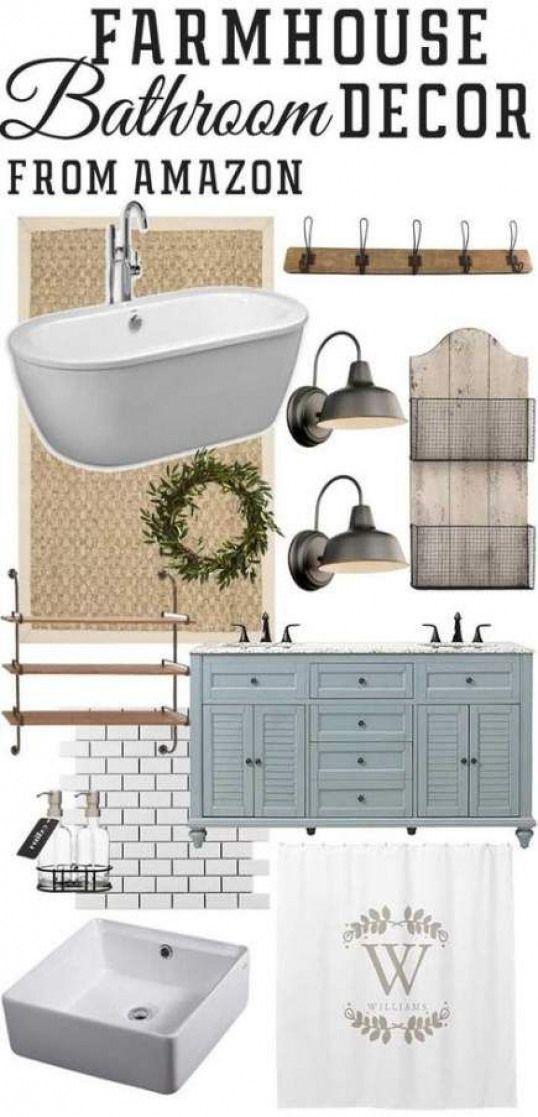 Photo of Best farmhouse bathroom fixtures shower curtains 44 Ideas #farmhouse #bathroom #…