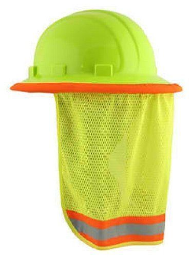 34ebef89834 Neck Sun Shield for Hard Hats Will Work with Full Brim Hi Vis Lime Ultra  Light