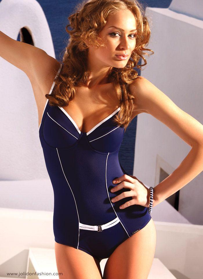 3d88abfc650 Slimming Blue One Piece Swimsuit Swimwear - Jolidon Fashion Swimwear ...