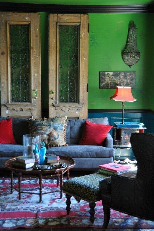 Modern , antique mix in color /Designer Tracy Porter