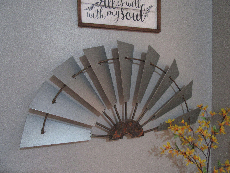 36 Galvanize Half Windmill Wall Decor Custom Metal Windmill Wall