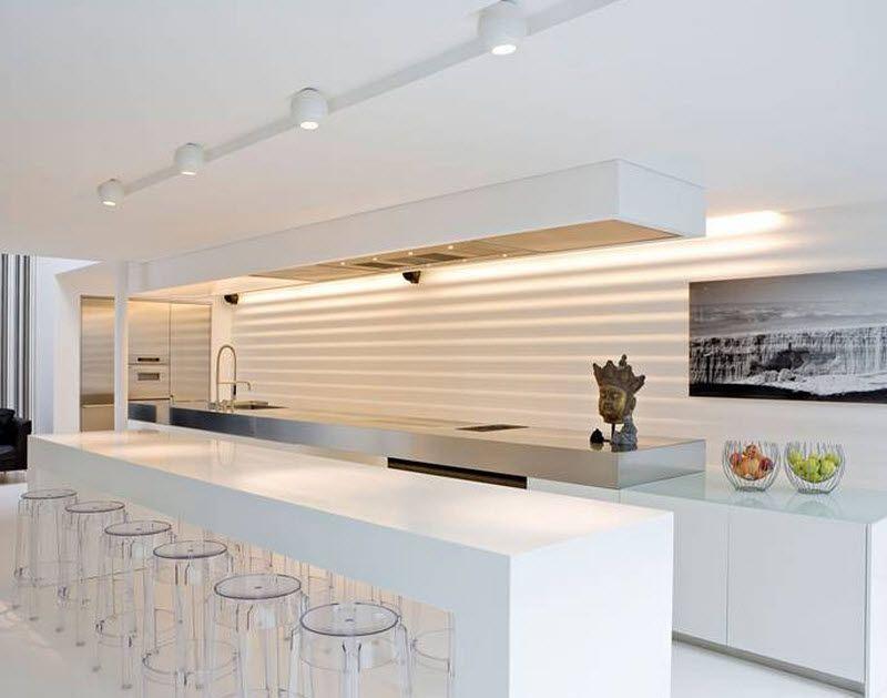 Cuisine contemporaine laquée (avec îlot) - BOFFI ANTWERPEN BELGIUM