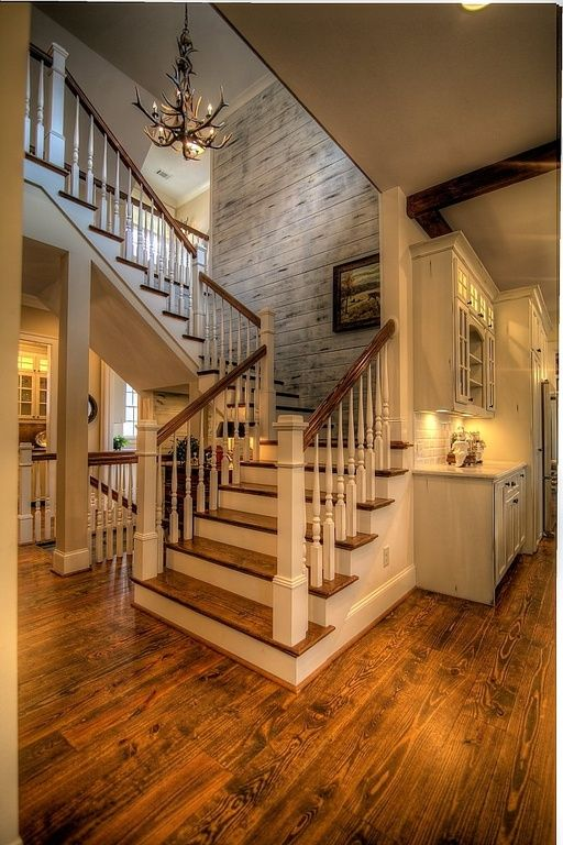 Great Country Staircase With Columns By Atlanta Sold Sisters