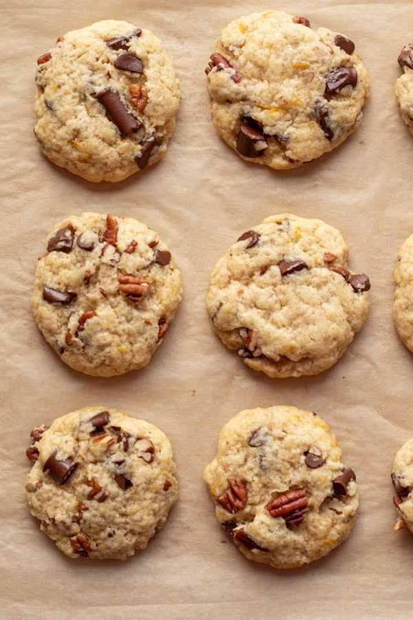 Chocolate Chunk Orange Pecan Cookies