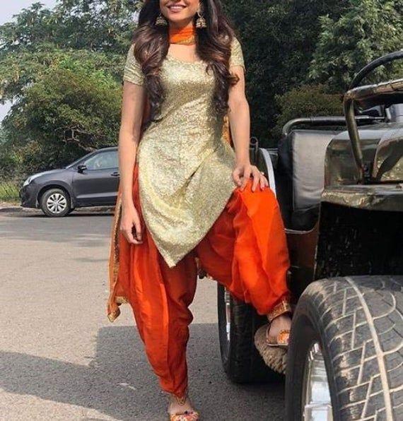 Punjabi salwar suit for women Indian kameez Brides