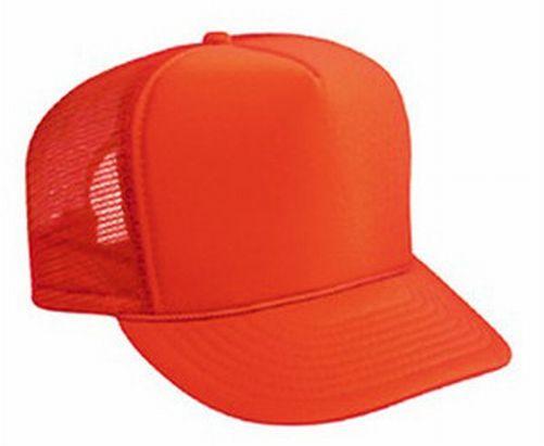Neon Orange Blank Trucker Hat Mesh Hat - Blank Plain Trucker Hats 5784d568faa