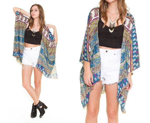Frolic Kimono Cardigan - Paisley Stripe | Fashion Inspiration ...