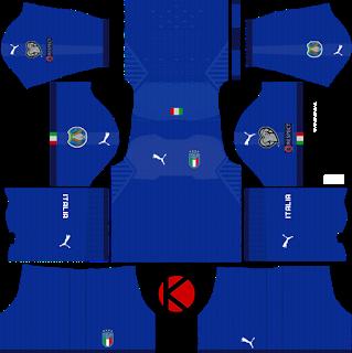 Italy 2018 2019 Kit Dream League Soccer Kits Soccer Kits Football Kits Goalkeeper Kits