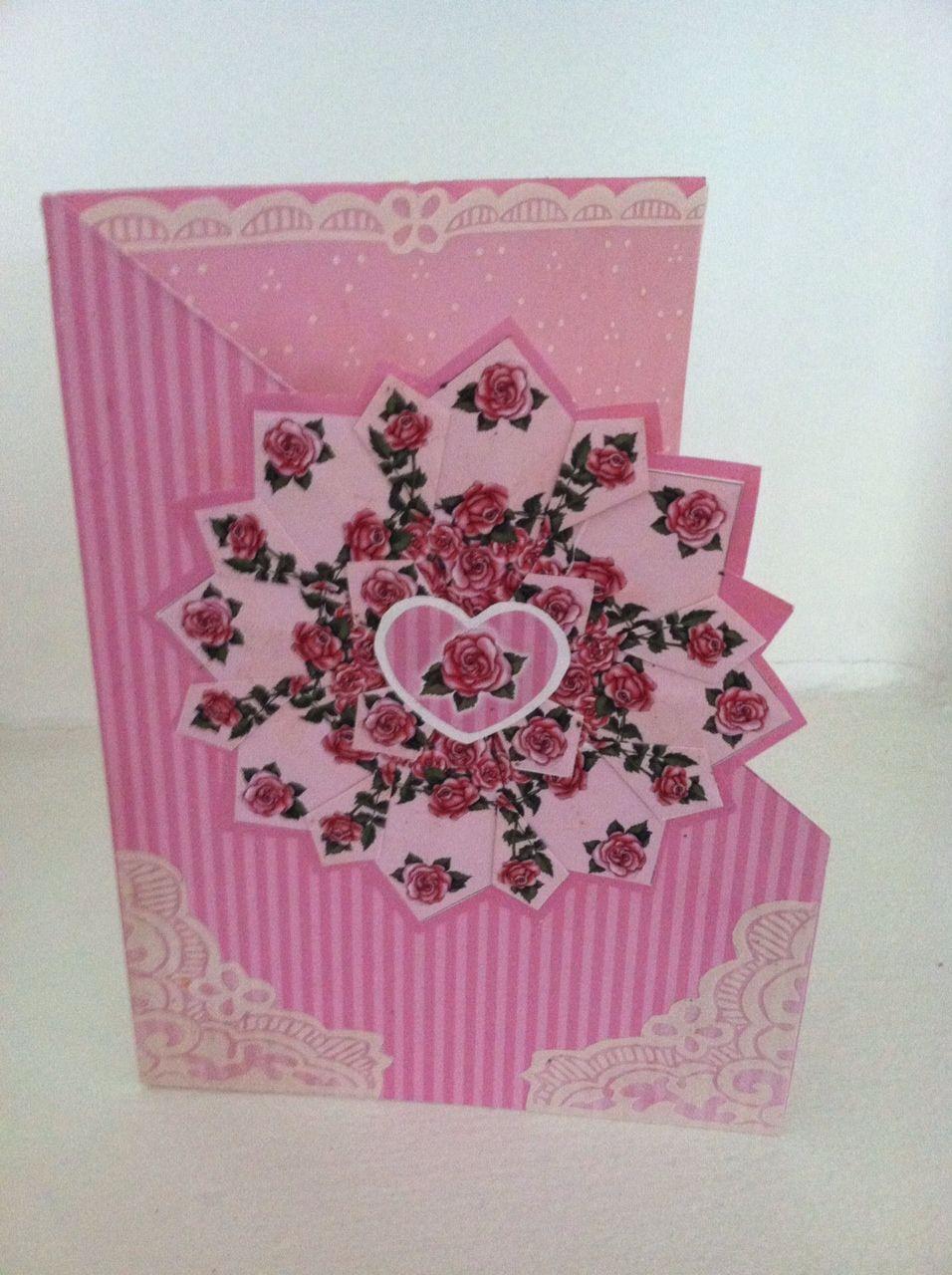 Paper Craft - a folded design card I made