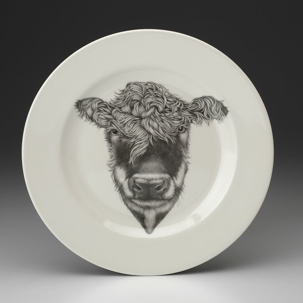 Laura Zindel Design - Dinner Plate Hereford Cow $50.00 (// & Dinner Plate: Hereford Cow | Hereford Cow and Art sketches