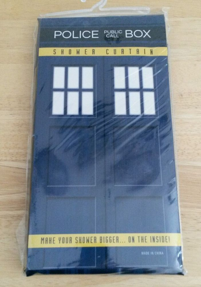 Geek Fuel Exclusive Dr Who Time Travel Tardis Police Box Shower Curtain New Tardis Police Box Police Box Time Travel