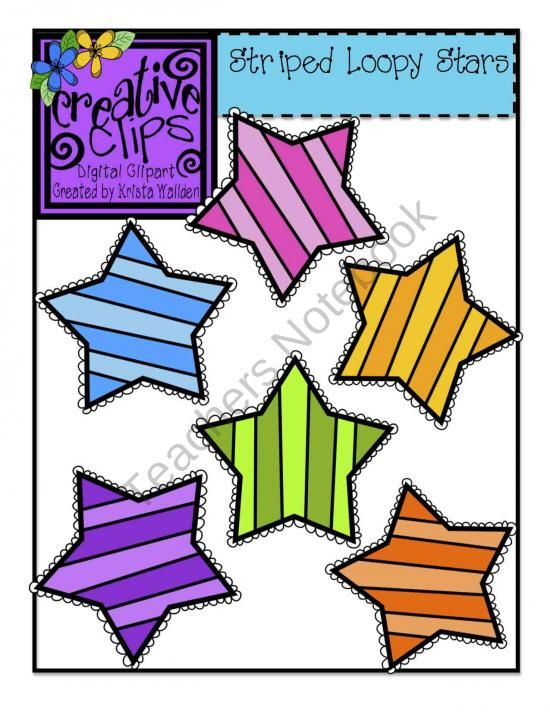 free striped stars creative clips digital clipart from creative rh pinterest co uk free star clipart for teachers